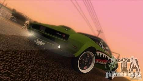 Dodge Charger RT SharkWide для GTA San Andreas вид снизу
