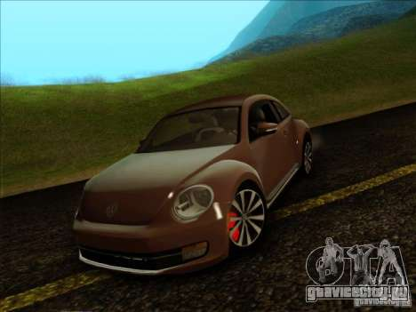 Volkswagen Beetle Turbo 2012 для GTA San Andreas вид сзади слева