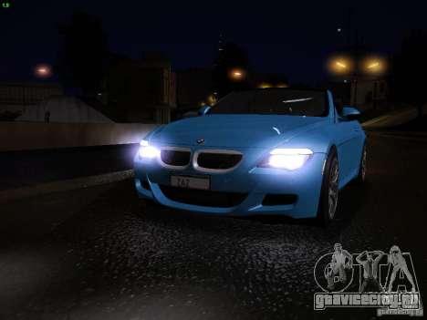 BMW M6 для GTA San Andreas салон