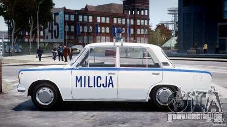 Fiat 125p Polski Milicja для GTA 4 вид слева