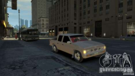 Nissan Pick-Up 1997 для GTA 4 вид слева
