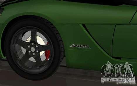 Dodge Viper немного тюнинга для GTA San Andreas вид сзади слева