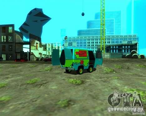 Mystery Machine для GTA San Andreas вид сзади слева