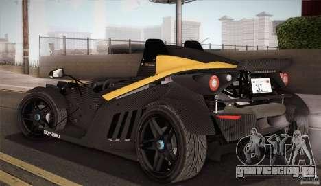 KTM-X-Bow для GTA San Andreas вид снизу