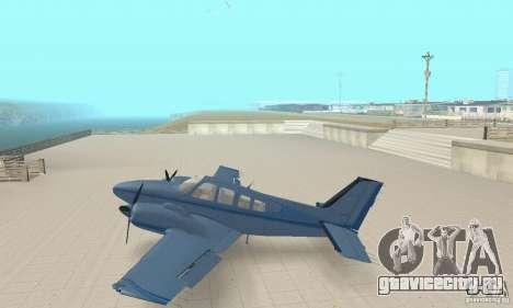 Beechcraft Baron 58 T для GTA San Andreas вид сзади слева