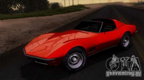 Chevrolet Corvette C3 Stingray T-Top 1969 v1.1 для GTA San Andreas вид сбоку