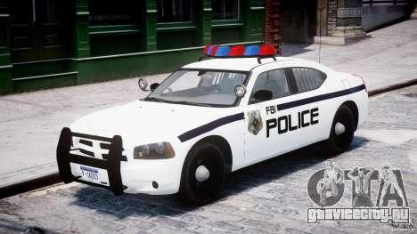 Dodge Charger FBI Police для GTA 4 вид слева