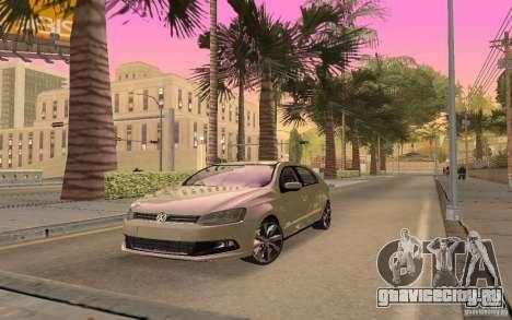 Volkswagen Gol G6 для GTA San Andreas вид сзади слева