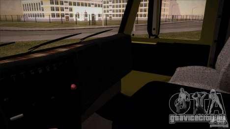 Камаз 5460 Рестайлинг для GTA San Andreas вид изнутри