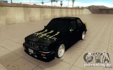 BMW E30 323i для GTA San Andreas вид сзади