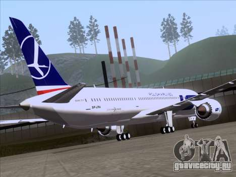Boeing 787-9 LOT Polish Airlines для GTA San Andreas вид изнутри