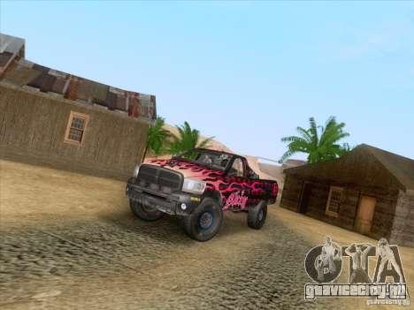 Dodge Ram Trophy Truck для GTA San Andreas вид сбоку