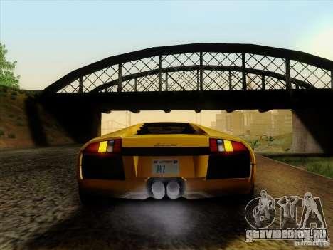 Lamborghini Murcielago LP640-4 для GTA San Andreas вид сзади слева