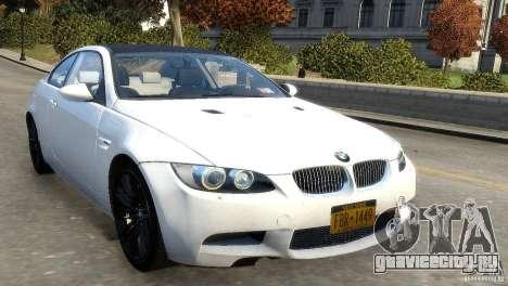 BMW M3 E92 2008 v1.0 для GTA 4 вид слева