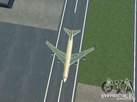 Boeing 747-400 Delta Airlines для GTA San Andreas вид сзади