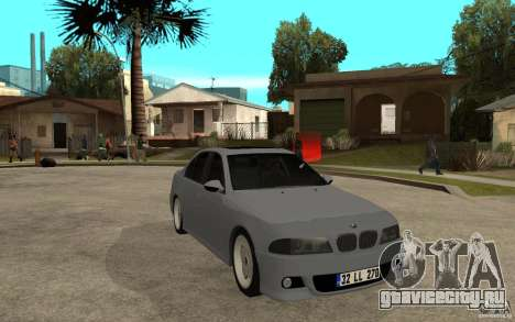 BMW 523i CebeL Tuning для GTA San Andreas вид сзади