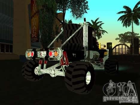Kenworth W900 Monster для GTA San Andreas вид справа