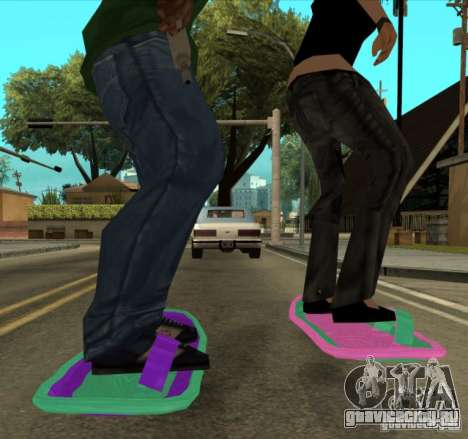 Hoverboard bttf для GTA San Andreas вид сзади слева