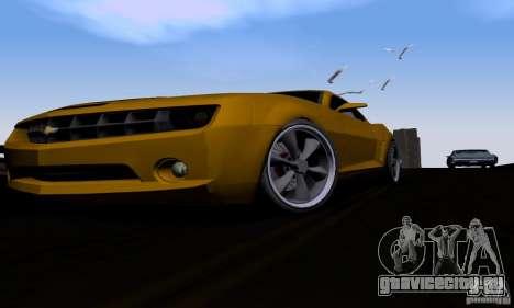 Chevrolet Camaro для GTA San Andreas вид изнутри