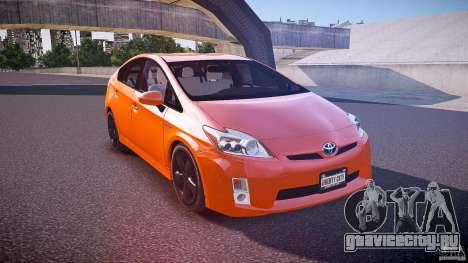 Toyota Prius 2011 для GTA 4 вид сбоку