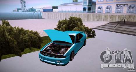 Nissan Silvia S14 JDM WAY для GTA San Andreas вид сзади слева