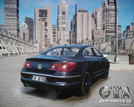 Volkswagen Passat CC для GTA 4 вид слева