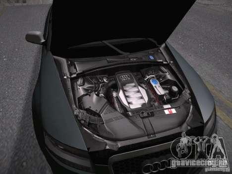 Audi RS6 2009 для GTA San Andreas вид изнутри