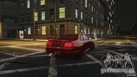 Nissan Skyline R33 GTR V-Spec для GTA 4 вид справа
