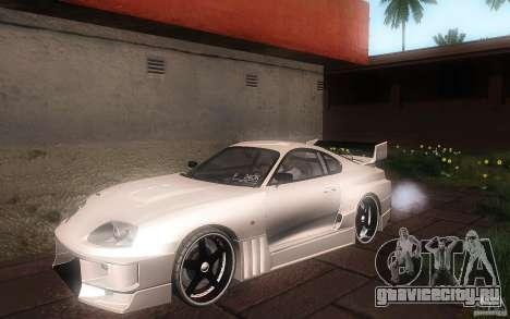 Toyota Supra Chargespeed для GTA San Andreas вид снизу