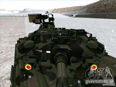 Т-90 из Battlefield 3 для GTA San Andreas вид изнутри