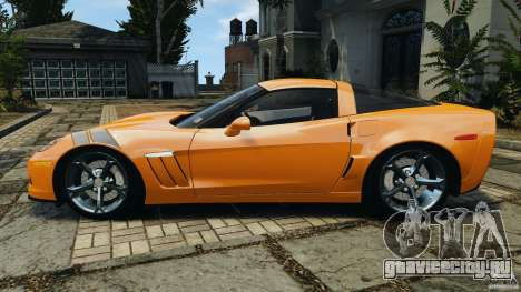 Chevrolet Corvette C6 Grand Sport 2010 для GTA 4 вид слева
