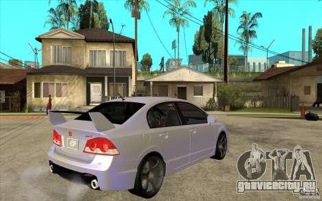 Honda Civic Mugen v1 для GTA San Andreas вид справа