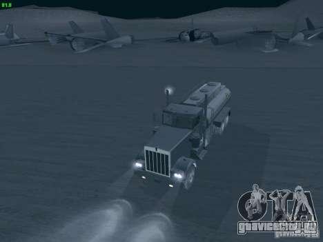 Kenworth Petrol Tanker для GTA San Andreas вид справа