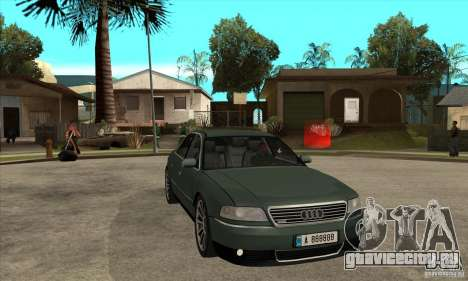 Audi A8 Long 6.0 2000 для GTA San Andreas вид сзади