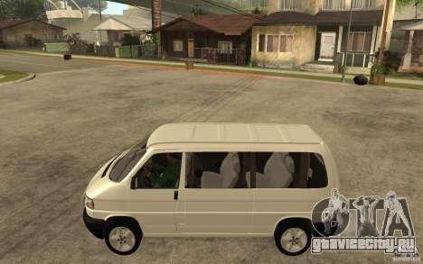 Volkswagen Transporter T4 для GTA San Andreas вид слева