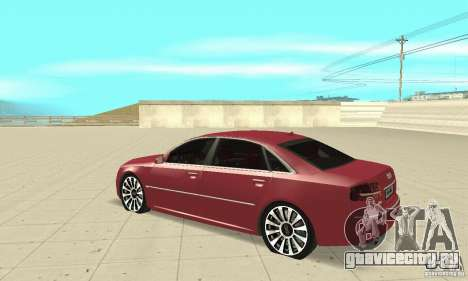 Audi A8L 4.2 FSI для GTA San Andreas вид сзади