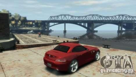 BMW Z4 для GTA 4 вид сзади слева