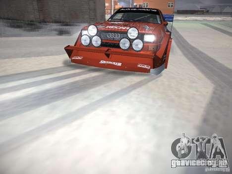 Audi Quattro Pikes Peak для GTA San Andreas двигатель