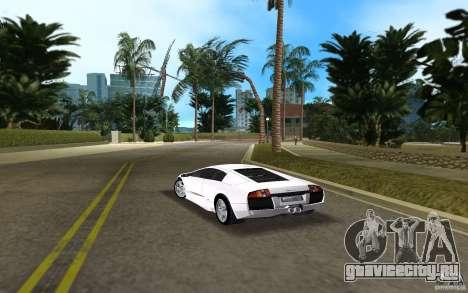 Lamborghini Murcielago V12 6,2L для GTA Vice City вид сзади слева