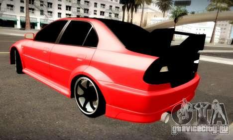 Mitsubishi Lancer Evolution 6 для GTA San Andreas вид сзади