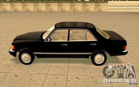 Mercedes Benz 560SEL w126 1990 v1.0 для GTA San Andreas вид слева