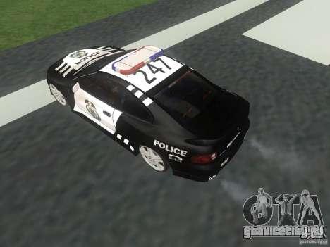 Pontiac GTO Police для GTA San Andreas вид справа