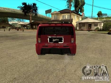 Hummer H2 Tuning для GTA San Andreas вид сзади слева