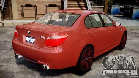 BMW M5 E60 2009 для GTA 4 вид изнутри