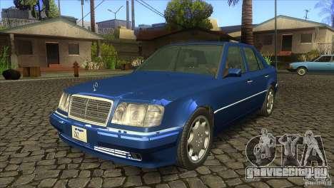 Mersedes-Benz E500 для GTA San Andreas вид сзади слева