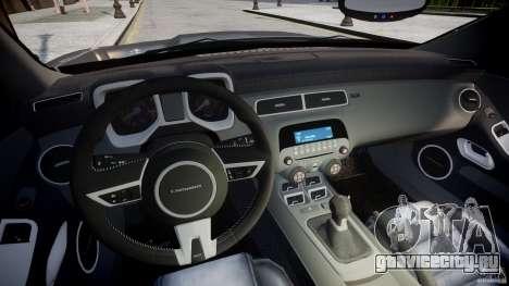Chevrolet Camaro SS 2009 v2.0 для GTA 4 вид сзади