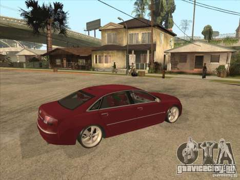 Audi A8 Switze для GTA San Andreas вид справа