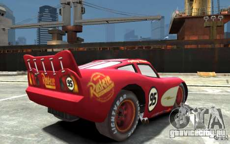 Lighting McQueen для GTA 4 вид справа
