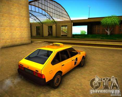 АЗЛК 2141 такси для GTA San Andreas вид справа