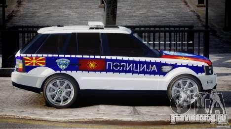 Range Rover Macedonian Police [ELS] для GTA 4 вид сбоку